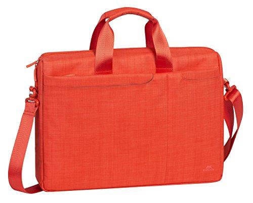 """RIVACASE Notebooktasche bis 15.6"""" – W&erschöne Tasche mit viel Platz für Zubehör & hohen Tragekomfort - Orange"""