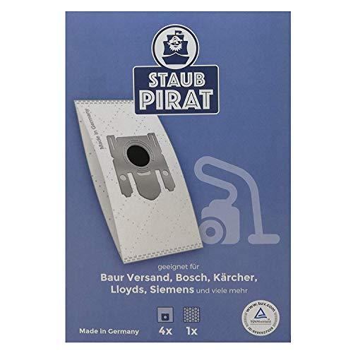 Staub Pirat Staubsaugerbeutel im 4er Pack 16 Beutel für Baur Versand, Bosch, Kärcher, Lloyds, Siemens, uvm.