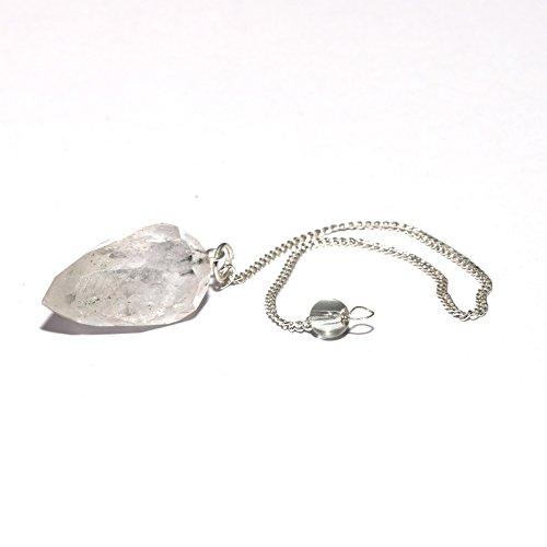Kristallen slinger in druppelvorm bergkristal slinger met ketting pantserketting