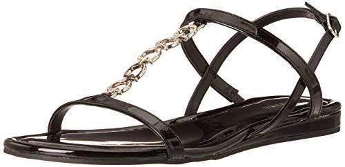 Guess Women's JILLEN Flat Sandal, BLACK, 7