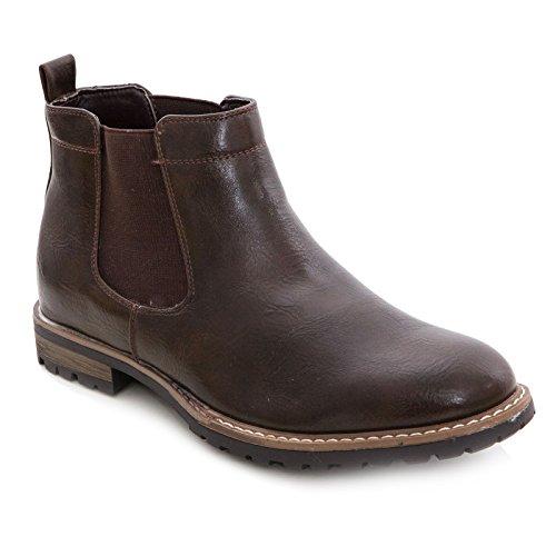 Toocool – Botas de hombre Chelsea Zapatos Beatles Polainas Anfibi Elegantes Y28 Marrón Size: 44 EU