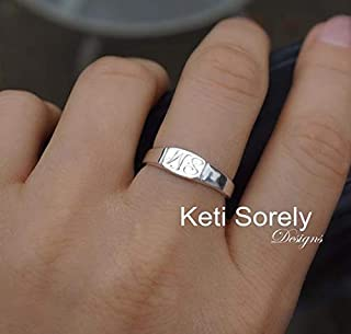 Mini Signet Ring With Engraved Initials