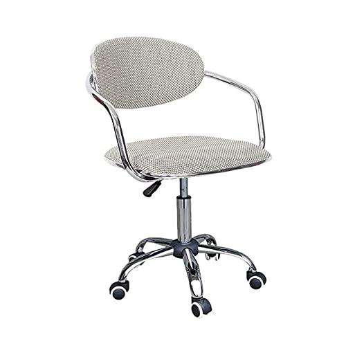 HMBB Sillas de escritorio, Silla de oficina de moda de la mitad de la espalda ergonómica giratoria de escritorio en casa de la oficina de la computadora silla de metal