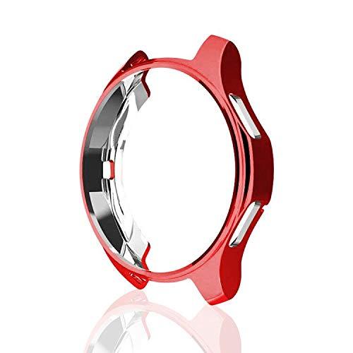 MroTech Hülle Kompatibel für Samsung Galaxy Watch 46mm/Gear S3 Frontier Case Schutzhülle Flexible TPU Rahmen Schutz Gehäuse Bumper Frame für SM-R760/R800 S3 Frontier Case Galaxy Watch 46 mm Hülle,Rot