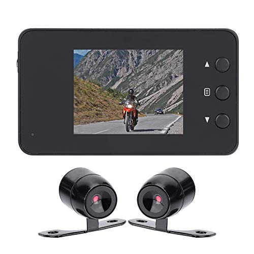 Dual 1080P Sport HD Kamera,1080P Motorrad Auto Fahrrad Dual Action Wasserdichte Kamera Video DVR Camcorder,140 Grad Ultra Weitwinkelobjektiv,3 Zoll LCD Bildschirm,1280 * 720P ,mit viel Zubehör
