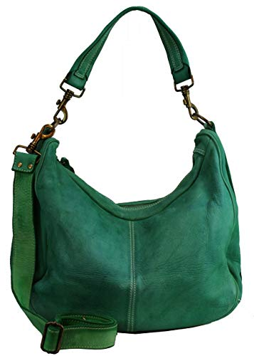 BZNA Bag Sia Grün green Italy Designer Damen Handtasche Schultertasche Tasche Schafsleder Shopper Neu