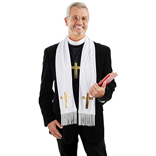 Fun Shack Mens Vicar Costume Adults Religious Priest Uniform Minister Stag Do Outfit