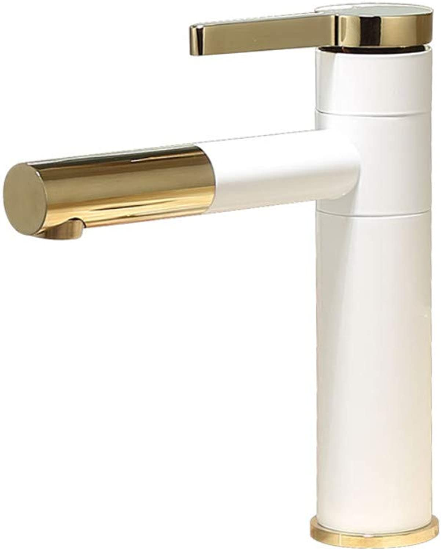 Fine Copper Paint Bathroom Faucet Single Hole Basin Faucet hot and Cold wash Basin wash wash Basin Splash