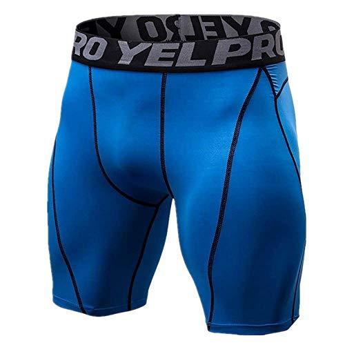 N\P Pantalones cortos de compresión para hombre de línea de medias cortas, delgadas para culturismo transpirable, parte inferior de los hombres de fitness