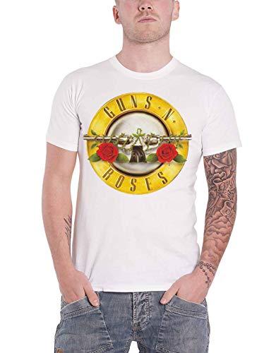 Guns N Roses T Shirt Classic Pistols Band Logo Nouveau Officiel Homme Size M