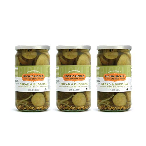 Bread & Buddhas (3-pack) - Semi-sweet bread and butter pickle chips 24oz