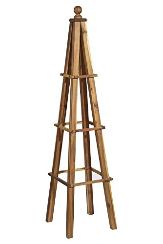 Classic Home and Garden 9/802/1 Wood Obelisk, 1 Pack, Acacia