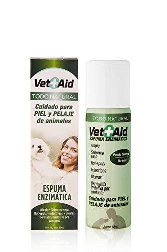 VetAid Espuma cicatrizante y desinfectante para curación de heridas en Perros, Gatos y Todo Tipo de Animales. 60 ml