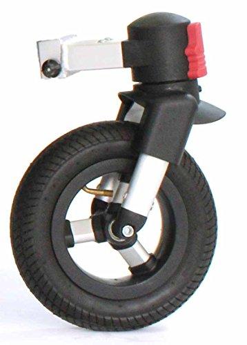 Qeridoo 360 Grad Drehbares Luftrad Für Fahrradanhänger Sportrex Speedkid Silber