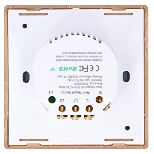 Interruptor inteligente, interruptor táctil inteligente Interruptor inteligente de 2200 W con uso de control remoto WIFI Control de calidad estricto y garantía de calidad para la mayoría de