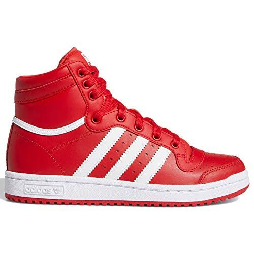 adidas Originals Top Ten Boys Grade School Big Kids Ef2833, Rojo (Escarlata/Blanca/Carlet), 37 EU
