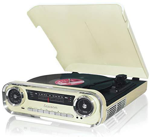Lauson 01TT15 Tocadiscos Diseño Vintage Coche de Colección