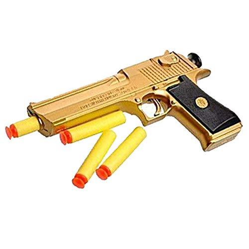 BCHENG Backyard Blasters Golden Desert Eagle Toy Foam Dart Gun