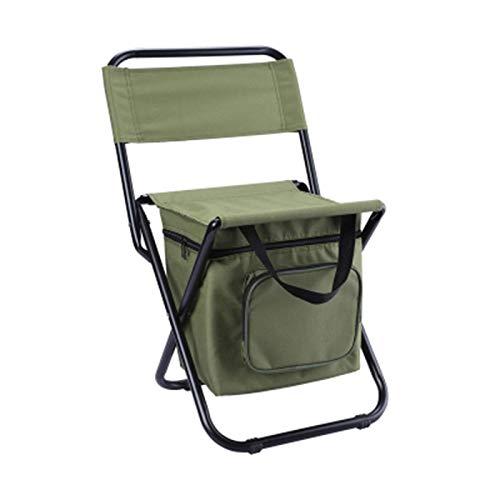 Último Silla plegable al aire libre Ocio Camping Silla portátil con paquete de hielo aislado Taburete de pesca con caja de almacenamiento Taburete pequeño y duradero Adecuado para camping al aire libr