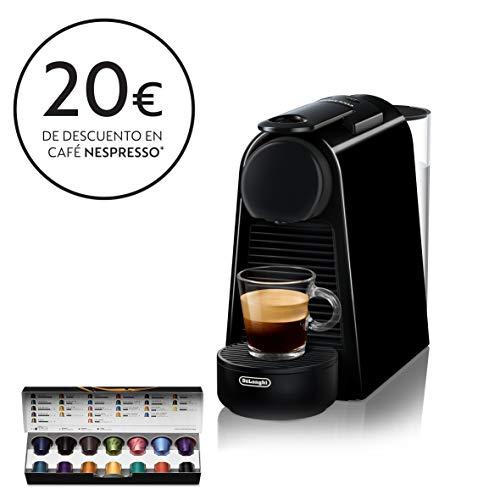 Nespresso De'Longhi Essenza Mini EN85.B - Cafetera monodosis de cápsulas Nespresso, compacta, 19 bares, apagado automático, color negro