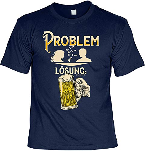 Grappige bierprint T-shirt set met mini T-shirt probleem oplossing bier 4heroes cadeauset met minishirt