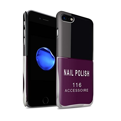 Stuff4 telefoonhoesje/Cover/Skin/IP-3DSWM / nagellak/make-upcollectie Apple iPhone SE 2020 Paars