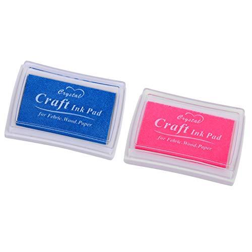 IPOTCH 2 Piezas Almohadillas de Tinta de Corea para Niños, para Usado con Dedos, para Manualidades, Sellos de Caucho, etc