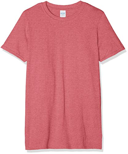Gildan Softstyle T-Shirt, Rosso (Heather Cardinal), L Uomo