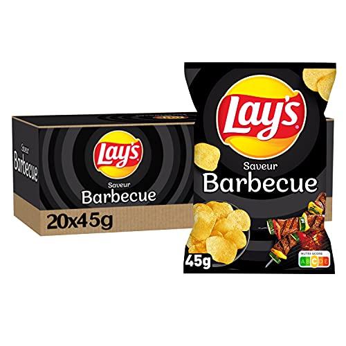 LAYS CHIPS BBQ 45G LOT DE 20