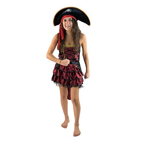 Bodysocks® Disfraz de Pirata Rojo Hembra (pequeño)