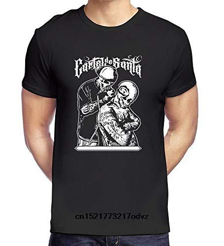 PEIJUNLAI T Shirts for Men G-B11 Cartel De Santa Funny Novelty Tops Mens tee Shirts XL