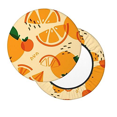 Sgabello da Bar Copre Arancia Fodere coprisgabello Elastico Bar Rotondo Sedia Copre Lavabile Sgabello Cuscino Fodera per la Casa Bar 12-14in