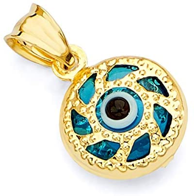 GoldenMine Fine Jewelry Collection 14k Yellow Gold Evil Eye Pendant product image