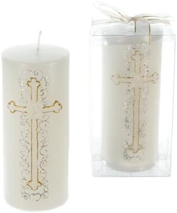 Austin Mall DollarItemDirect Religious Cross on Pillar Gold o Sale Candle - Case