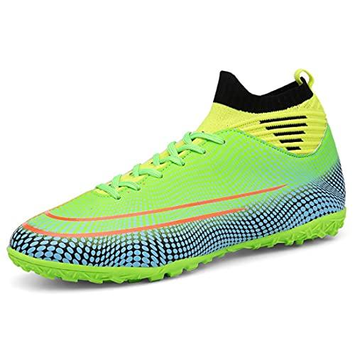 Zapatos de Fútbol de Caña Alta Botas de Fútbol Unisex Zapatos Antideslizantes Zapatos de Entrenamiento Profesional al Aire Libre