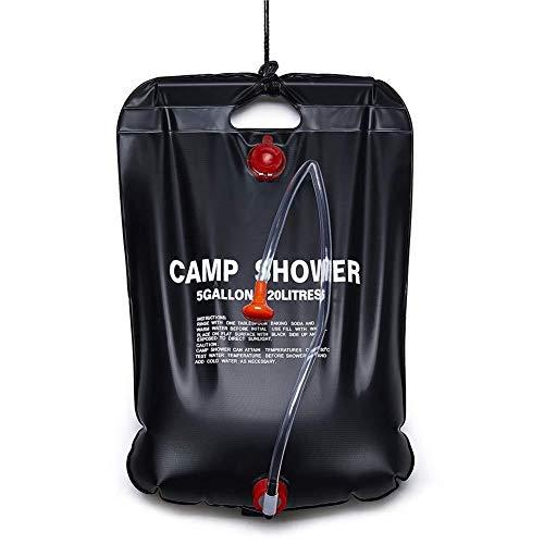 Trihedral-x Solar-Warmwasserflasche Wasserbeutel im Freien Campingausrüstung Campingdusche Taschen Duschbad Taschen