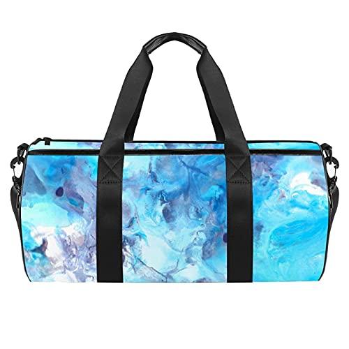 Marmo, borsa da palestra per sport e palestra, cilindrica, da viaggio, con tasca bagnata, leggera, da viaggio, con tracolla per uomini e donne