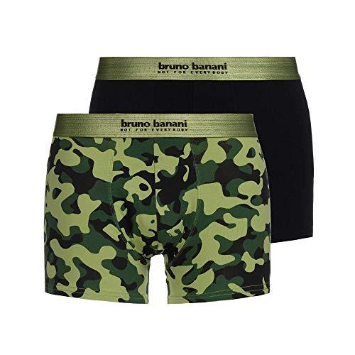 bruno banani 2er Pack Pant/Short Move Oliv schwarz 22012161-4019 Größe L