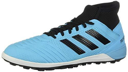 adidas Predator 19.3 Turf Soccer Shoe (mens) Bright Cyan/Black/Solar Yellow 9