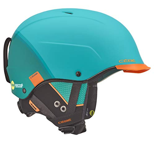 Cébé Unisex – Erwachsene Contest Visor Ultimate Skihelme Blue/Orange 61-63 cm
