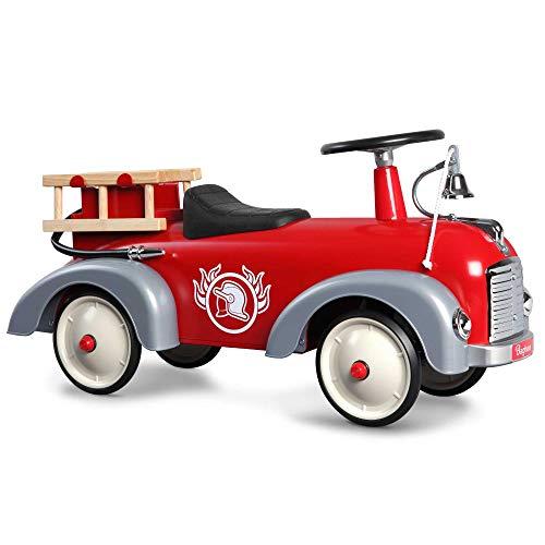 Baghera Speedster Camion dei Pompieri | Macchina cavalcabile Camion dei Pompieri per Bambini da 1 Anno d'età | Macchina a Spinta per i Primi Passi dei Bambini