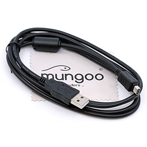Cavo dati USB compatibile con fotocamera digitale Olympus Tough TG-1, TG-310, TG-320, TG-620, TG-810, TG-820, 1,5 m, cavo di ricarica OTB con panno pe