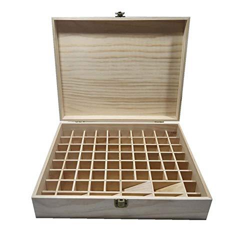 Opbergdoos voor etherische olie, cartridge, gleuf van hout, 74 containers, voor het opbergen van olie, voor minder ruimte, etherische olie