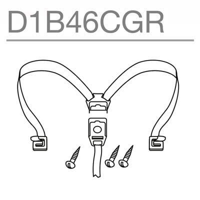 SHAD - D1B46CGR/214 : Recambio cierre gomas tiras elasticas internas baul maleta
