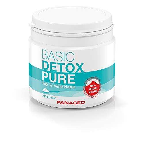 Panaceo Basic Detox pure: Veganes Bio-Medizinprodukt aus 100% Zeolith, zur Entgiftung des Darms, Pulver, 4-Wochen-Kur, 200 g