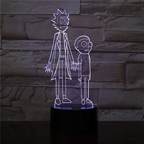 Kleine LED Schreibtischlampe, Smart Touch Licht Doctor Sun 3D Schreibtischlampe Acryl LED Nachtlicht Farbwechsel Party Farbwechsel LED coole Dekoration