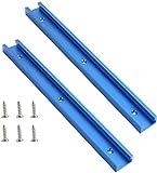 AGDLLYD - Set di 2 guide a T per lavorazione del legno, in lega di alluminio, per utensili per la lavorazione del legno, con viti a doppio taglio, con fori di montaggio preforati (2 pezzi)