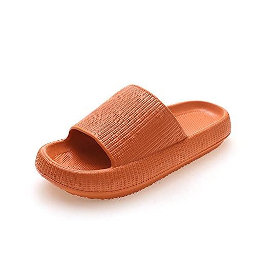 MLLM Zapatos de piscina de suela de espuma suave, zapatillas de baño gruesas, par anti-arena-naranja_38/39, zapatillas de baño interiores para la familia