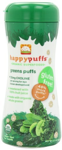 Happy Baby Organic Puffs, Greens Puffs, 2.1-Ounce Containers (Pack of 6) Kids, Infant, Child, Baby Products bébé, nourrisson, enfant, jouet