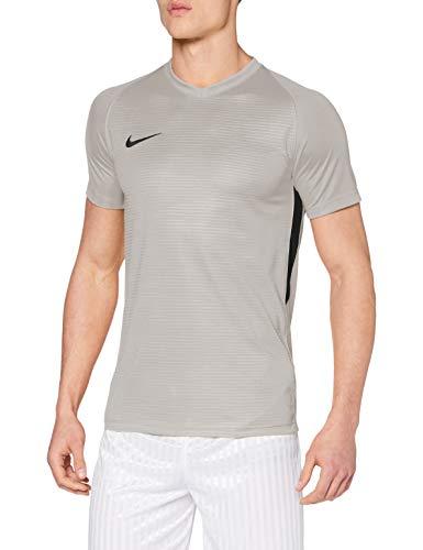 Nike Herren Tiempo Premier Football Jersey T-shirt, Grau(pewter grey/black), L